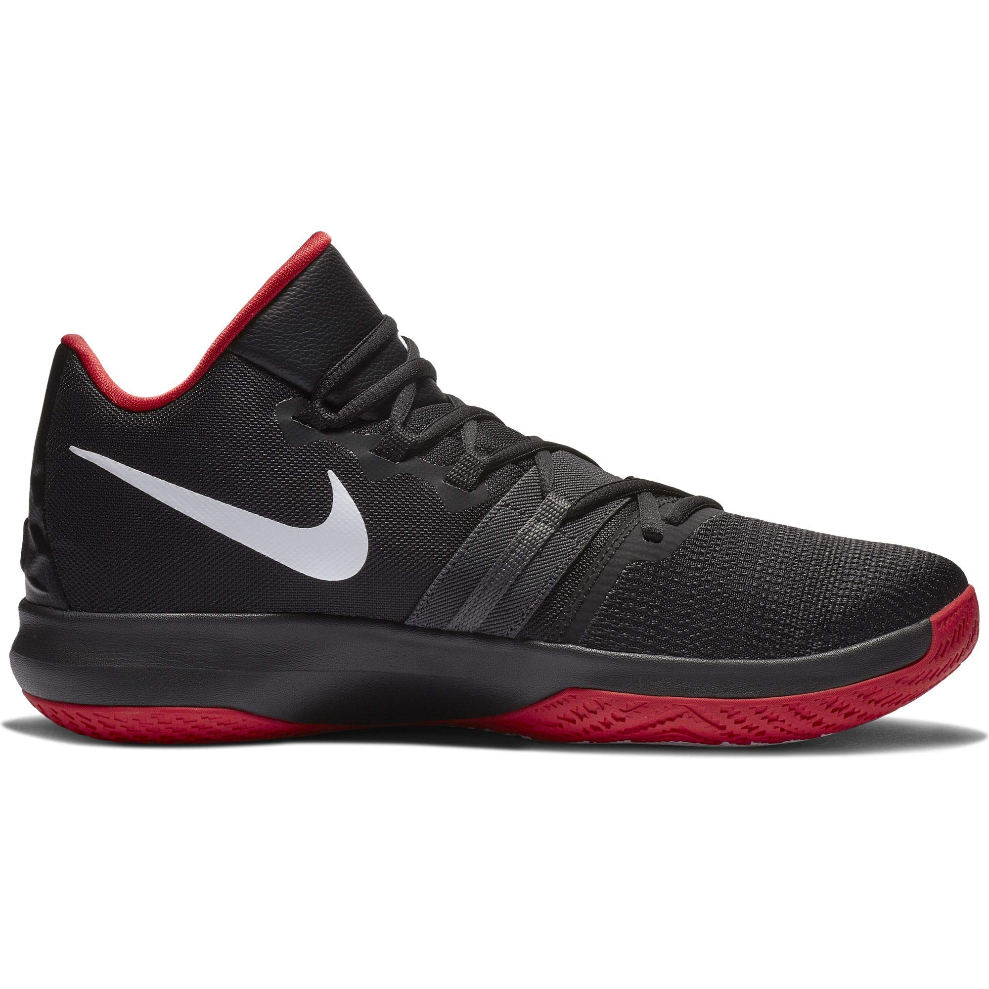 Nike Men Kyrie Flytrap Basketball High Top Sneakers From Finish Line Black White Red Us 11
