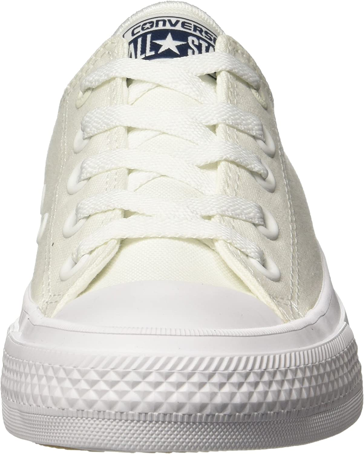 Converse CT II Ox, Baskets Basses Homme Blanc White White Navy