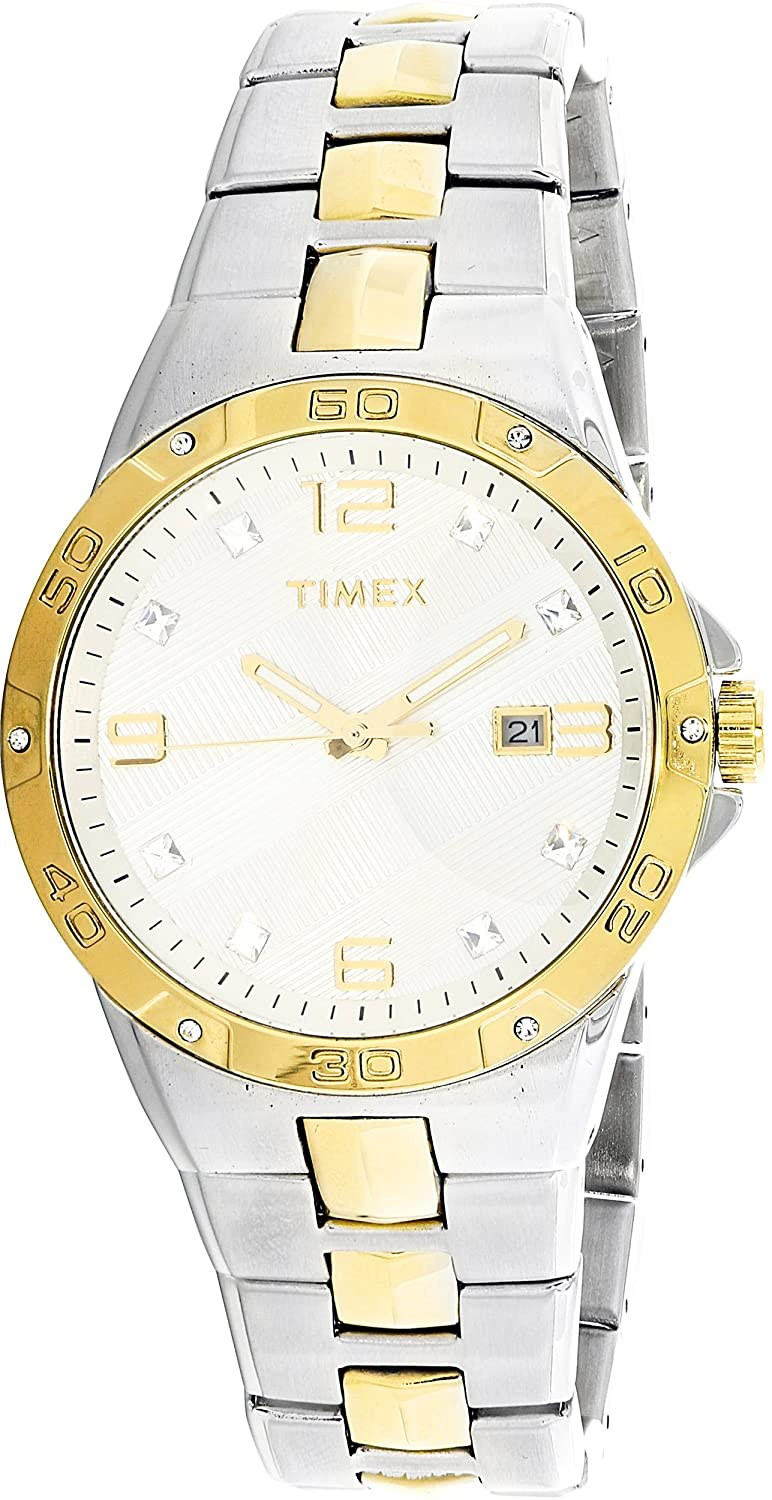 Amazon.com: Timex Elevated Silver Dial Stainless Steel Mens Watch T2P428: Timex: Watches