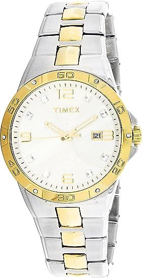 Timex t2p428 Cristal Dos Tonos Dorado & Plata Acero ...