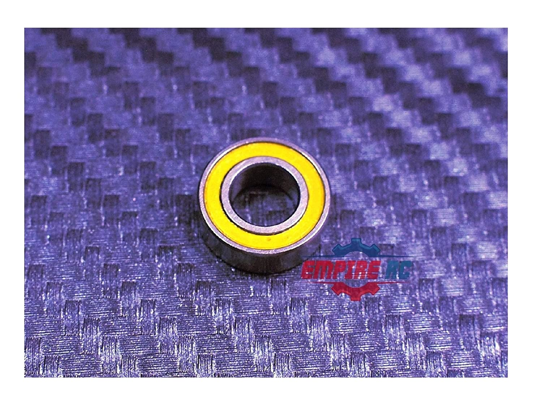 YELLOW 5x10x4 MR105-2RS 5104 Tamiya 1050 Rubber Sealed Ball Bearings 10 PCS