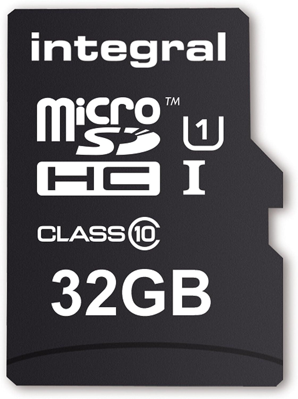 Integral INMSDH32G10-40U1 - Tarjeta Micro SD de 32 GB (Adaptador Incluido, Clase 10) Negro