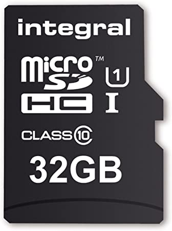 TALLA 32 gb. Integral INMSDH32G10-40U1 - Tarjeta Micro SD de 32 GB (Adaptador Incluido, Clase 10) Negro