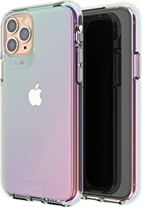 Gear4 702003723 GEAR4 Crystal Palace Iridescent Compatible with iPhone 11 Pro Case, Advanced Impact Protection With Integrated D3O Technology, Anti-Yellowing, Phone Cover – Iridescent, iPhone 11 PRO
