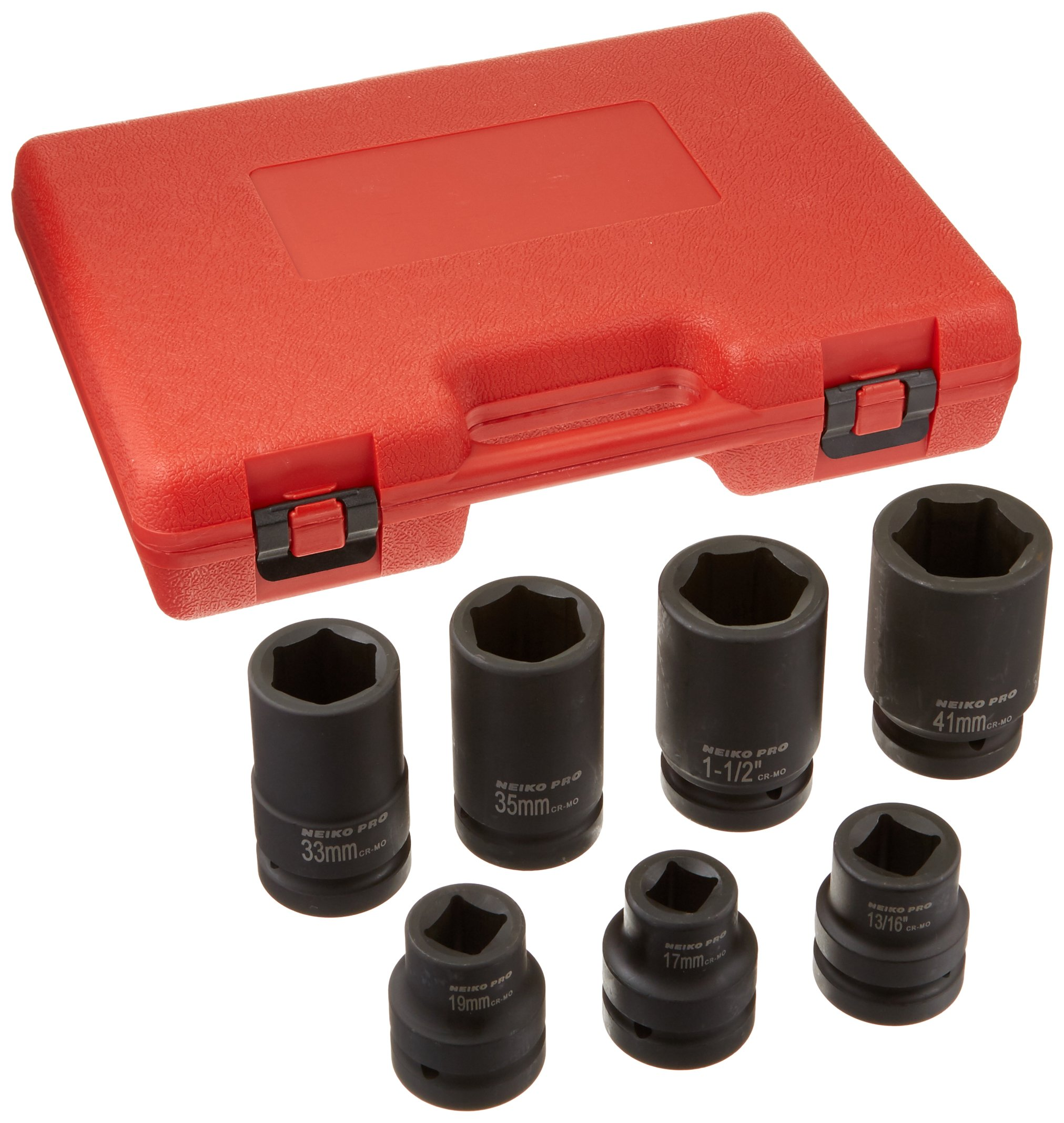 Neiko 02487B Cr-Mo 1'' Drive Impact Socket Set for Truck and Tire Service by Neiko (Image #2)