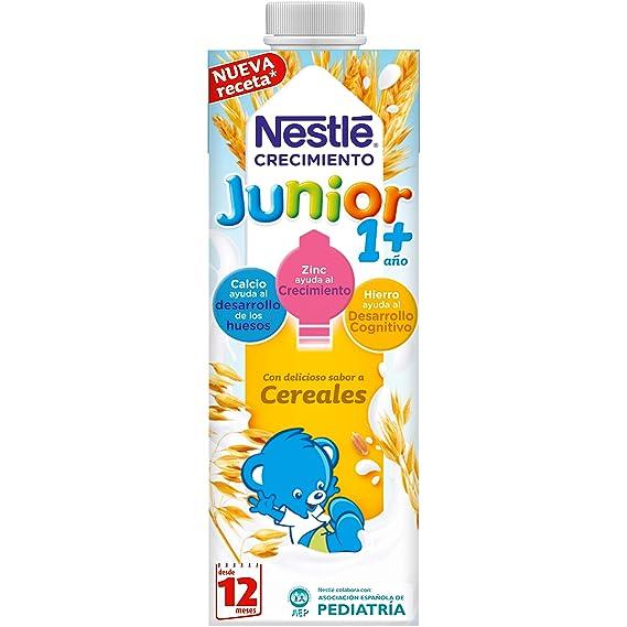 Nestlé Junior 1+ Cereales - Leche para niños a partir de 1 año - 6x1L
