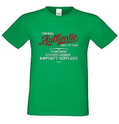 Geschenk zum 70. Geburtstag :-: T-Shirt als Geschenkidee :-: Authentic Since  70 Years :-: Geburtstagsgeschenk für Sie und Ihn Mama Papa Mutter Vater ...
