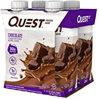 Quest Nutrition Ready To Drink Chocolate Protein Shake, High Protein, Low Carb, Gluten Free, Keto Friendly, 12Count