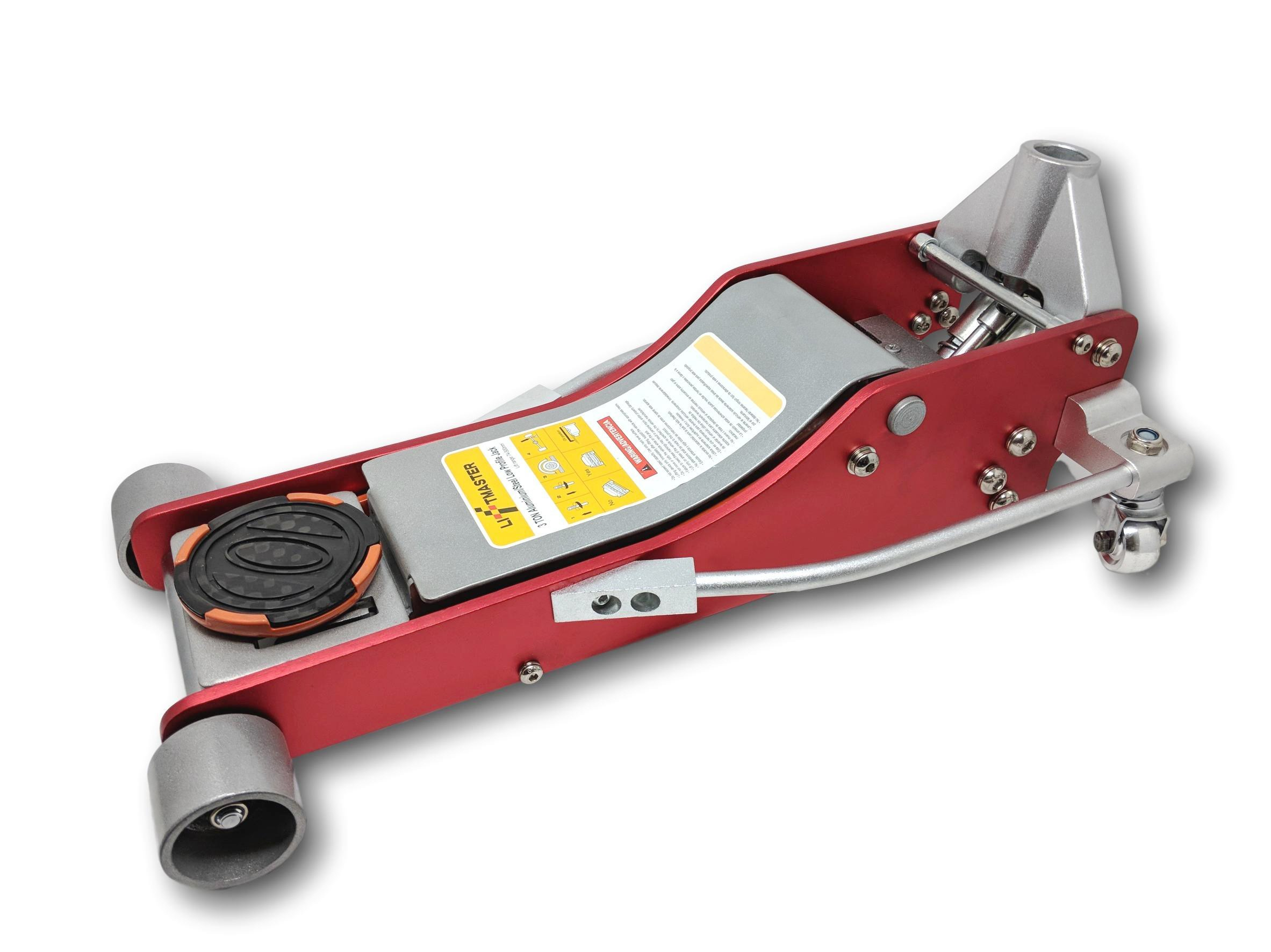 Liftmster Liftmaster 3 Ton Aluminum and Steel Low Profile High Lift Floor Jack (Red)