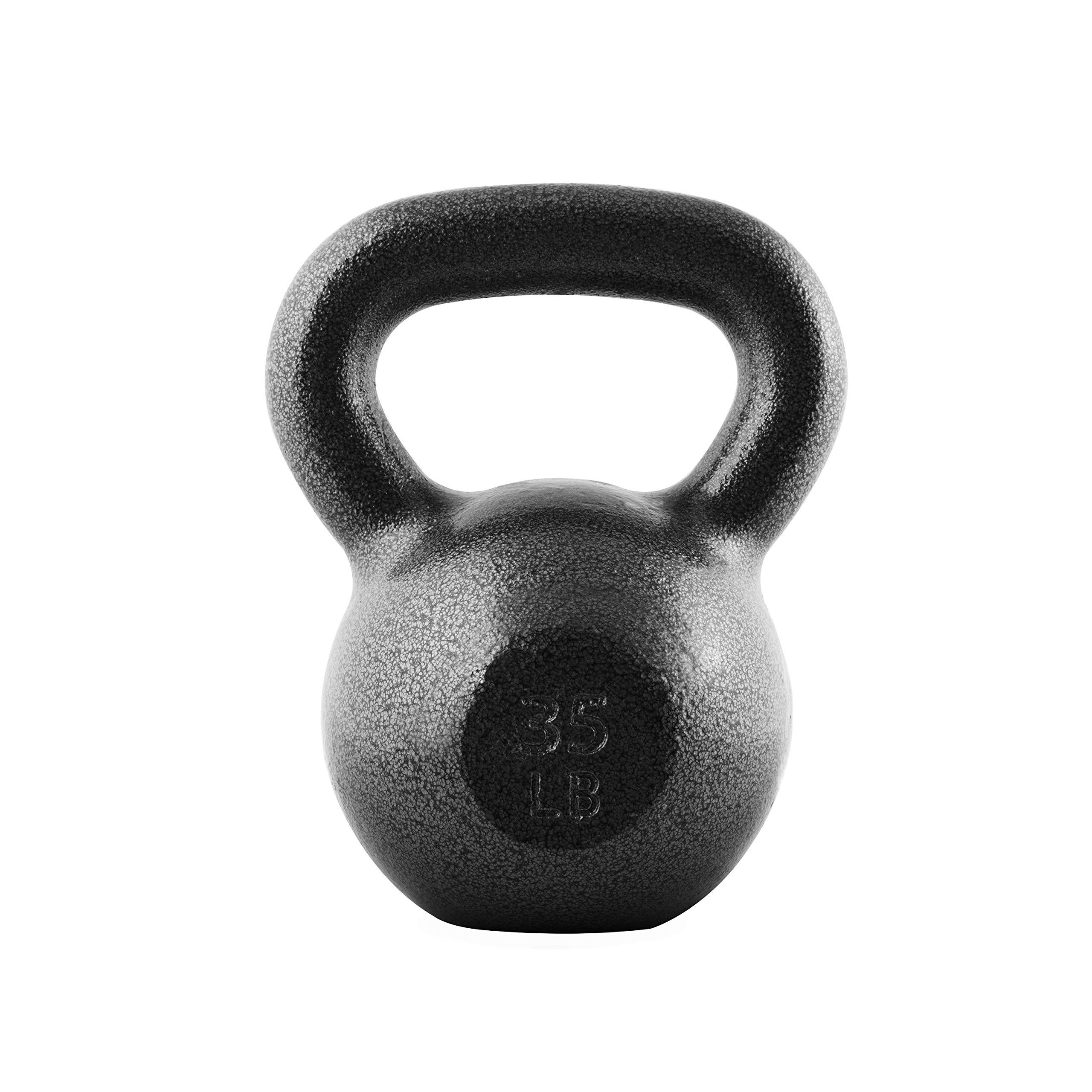 CAP Barbell SDK2B-035 Cast Iron Kettlebell, 35 lb, Black