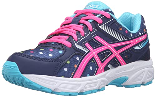Asics GelContend 3 GS Kids Running Shoe 3.5 Indigo Blue-Pink Glow-Aquarium