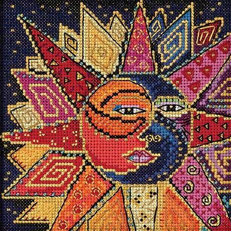 Amazon.com: Sol y Moon Dance abalorio Kit de punto de cruz ...