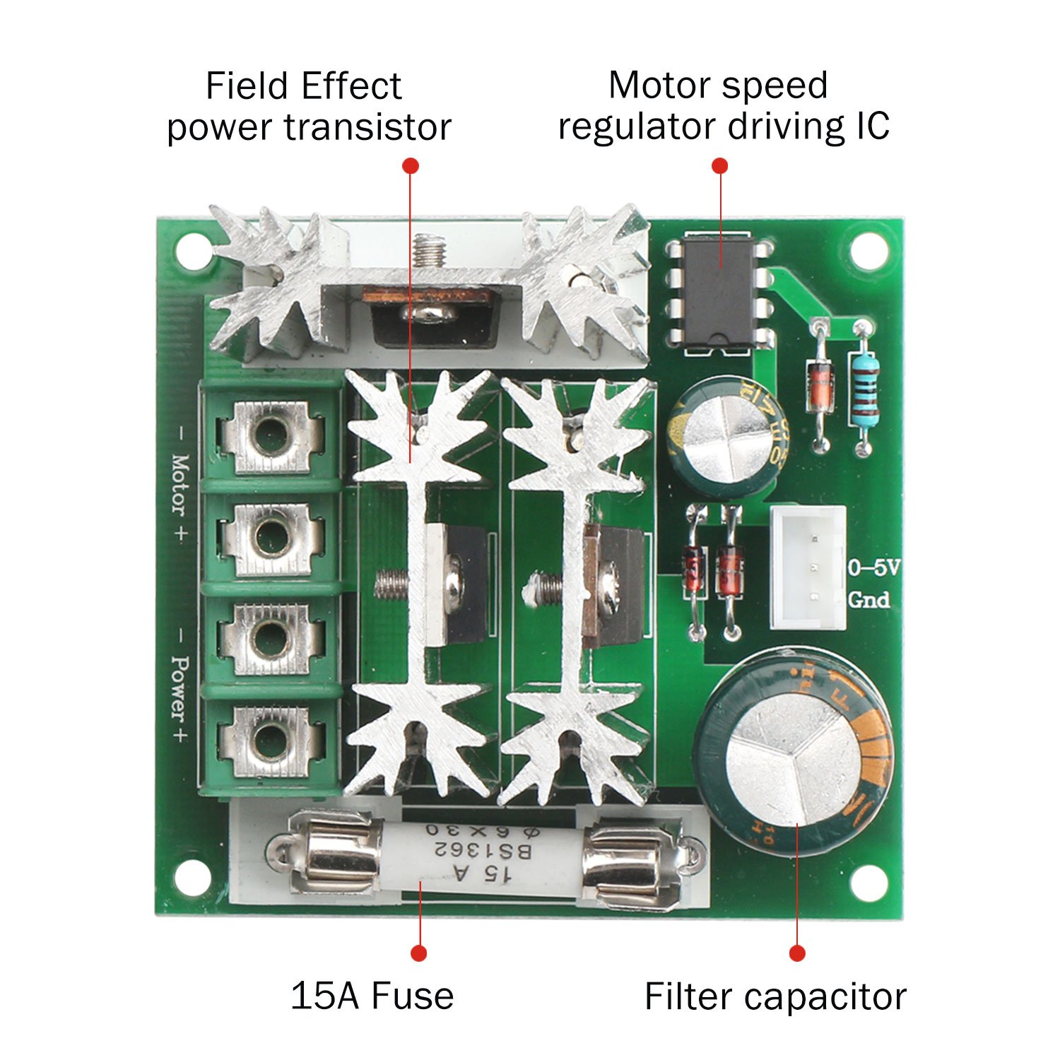 Drok 6 90v Dc Motor Speed Controller Pwm Module 1000w Amazonco Regulator With A Field Effect Transistor Power Supply Circuits Electronics