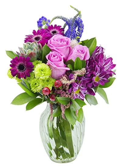 Amazon Sweet Tootsie Mixed Bouquet With Free Vase Included