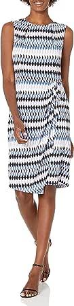 Lark & Ro Amazon Brand Women's Sleeveless Wrap Skirt Dress