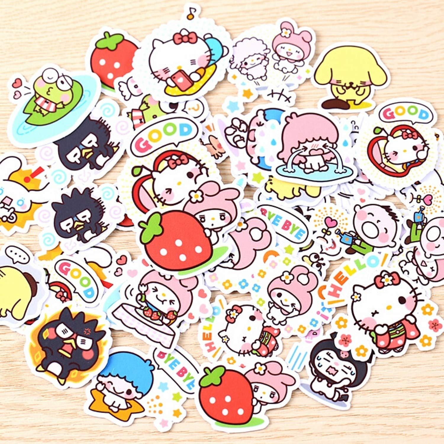 Amazon com 40pcs creative kawaii self made love sanrio girl stickers beautiful stickers decorative sticker diy craft photo albums baby