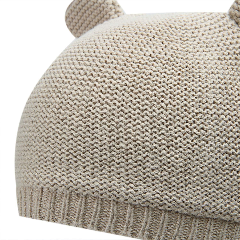 Vivobiniya Toddler Baby Girl Lovely Bowknot Knit Hats Baby Hats 6m-4years Old