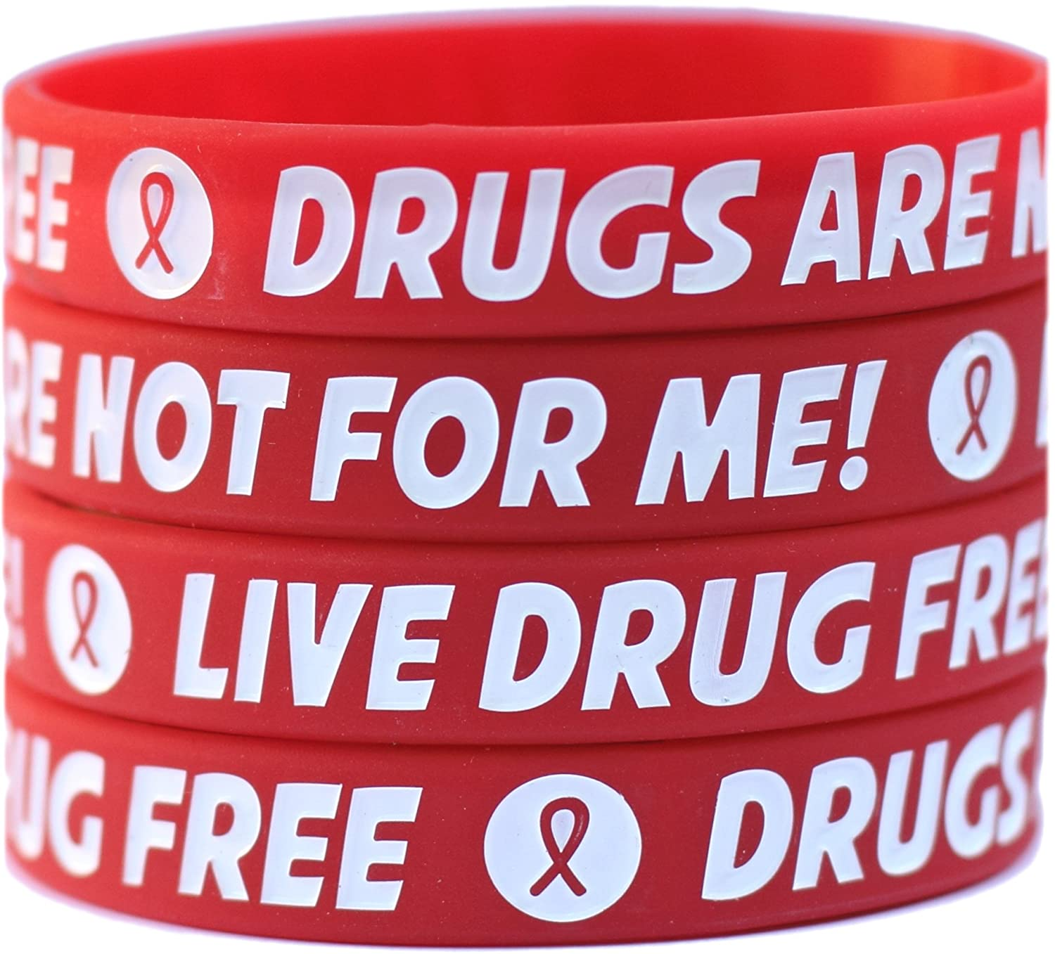 bracelets week red free resources assorted ribbon pack silicone to proud drug bracelet be