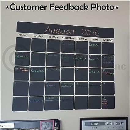 Chalkboard Vinyl Calendar With Black Vinyl Days Of The Week (23.5u0026quot;W ...