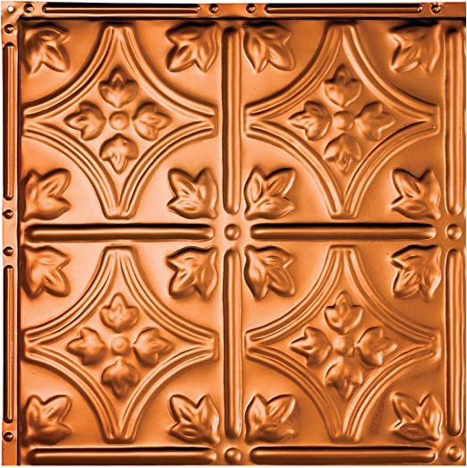 Amazon Com Great Lakes Tin Hamilton Copper Nail Up Ceiling Tiles 12in X 12in Sample Choose From 11 Styles Perfect For Diy And Home Renovation Projects Easy To Install Home Kitchen