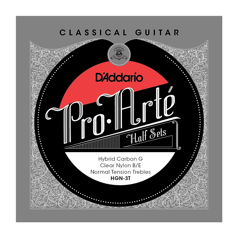 D'Addario HGN-3T Nylon Classical Guitar Strings, Medium D'Addario