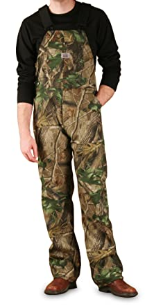 5aa28a63047a9 Round House Mossy Oak Hardwoods Non-Insulated Camo Bib Overall - Made in  USA (