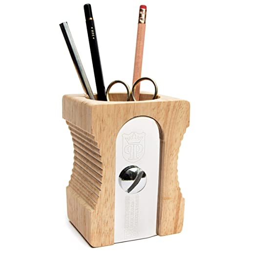 Suck UK Pencil Sharpener Desk Tidy and Stationary Holder/ Pen Pot - Perfect for Pens, Pencils, Rulers, Markers and Scissors
