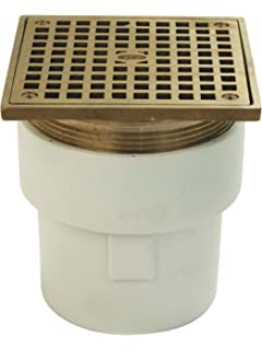 Zurn FD2211 PVC ST Adjustable Floor Drain With Square Top, PVC Body,