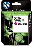 HP 940XL - Cartucho de tinta Original HP 940XL de álta capacidad Magenta para HP OfficeJet Pro 8000, 8500 series, 8500A, 8500A Plus