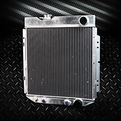 62mm Aluminum Racing Radiator Replacement For FORD MUSTANG/SHELBY V8 I6 MT/AT 1964 1965 1966: Automotive