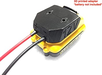 HR battery adapter for DeWALT 20v MAX 12 gauge wire power connector