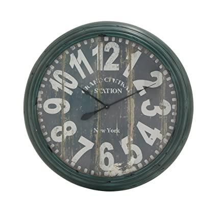 Buy Deco 79 92229 Metal Wall Clock, 37\