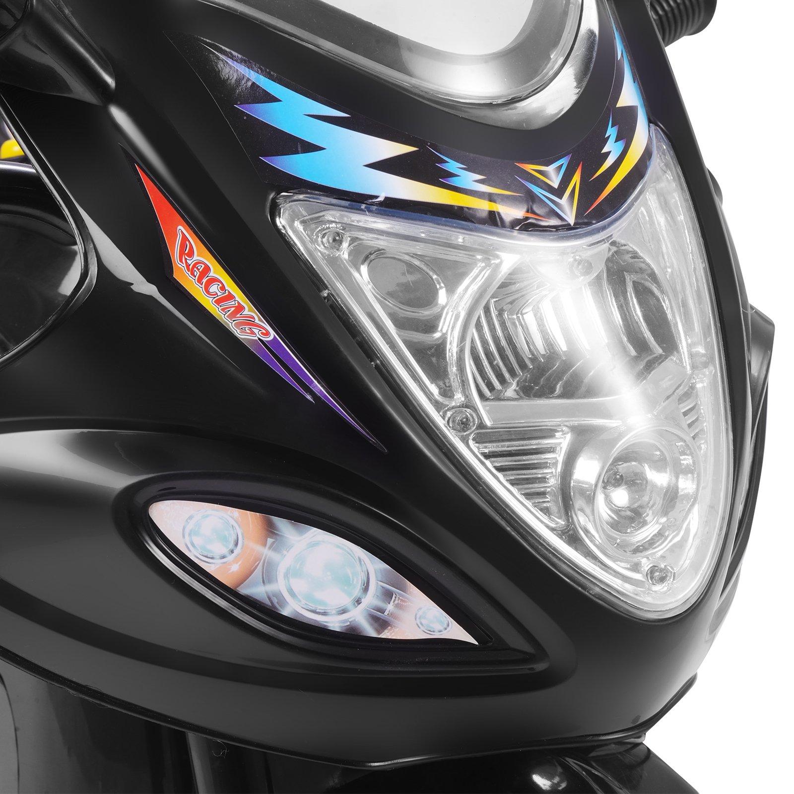 Uenjoy Murtisol Kids Ride on Motorcycle 6V Electric Motorcycle 2 Wheels Black by Uenjoy (Image #5)