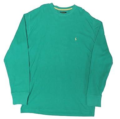 42631108ed Polo Ralph Lauren Men s Waffle Knit Crew Neck Shirt at Amazon Men s ...