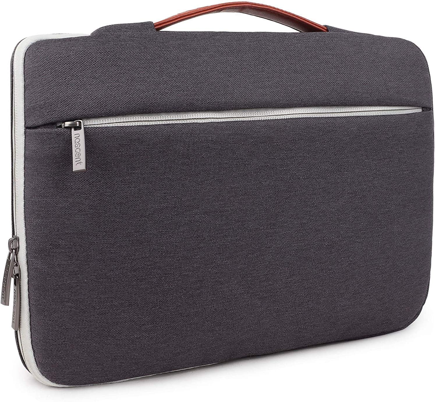 """Nascent 360° Protective 13-13.3 inch Laptop Sleeve Case Compatible with 13"""" MacBook Pro Retina 2012-2019, 12.9 Inch iPad Pro, Dell HP ASUS Acer Chromebook Bag (Charcoal Gray)"""