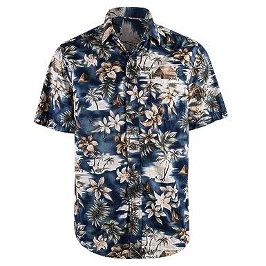 96c77278ecc9 Fun and Funky Hawaiian Button Down Short Sleeved T Shirts for Men in ...
