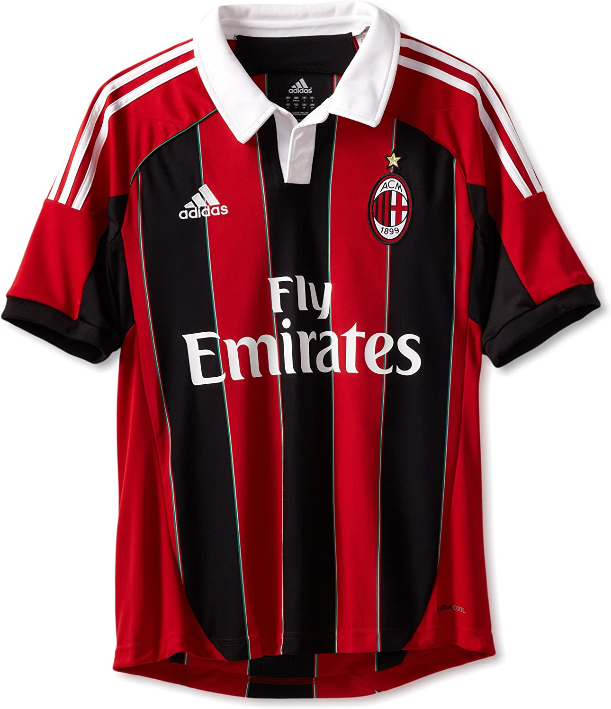 Restringido marcador princesa  Amazon.com : AC Milan Soccer Home Jersey, Red/Black/White : Sports Fan  Jerseys : Clothing