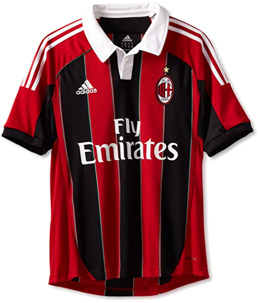 cb6d593f595cc Amazon.com : AC Milan Soccer Home Jersey, XXX-Large, Red/Black/White ...