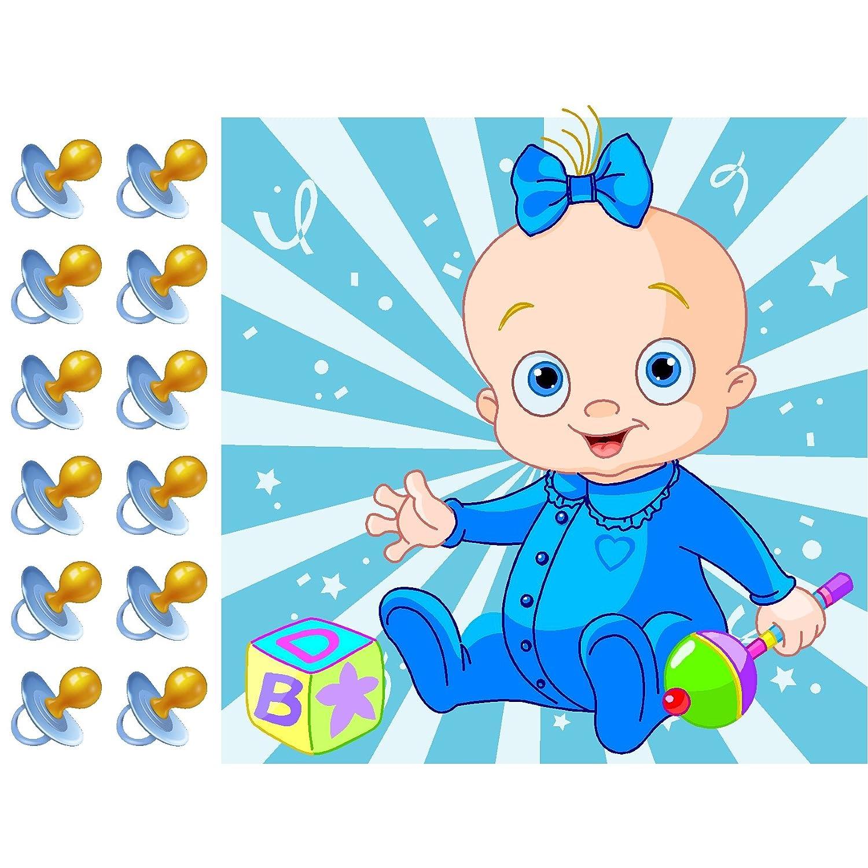 Amazon.com: Pin El Chupete en la BABY BOY – Juego de ducha ...