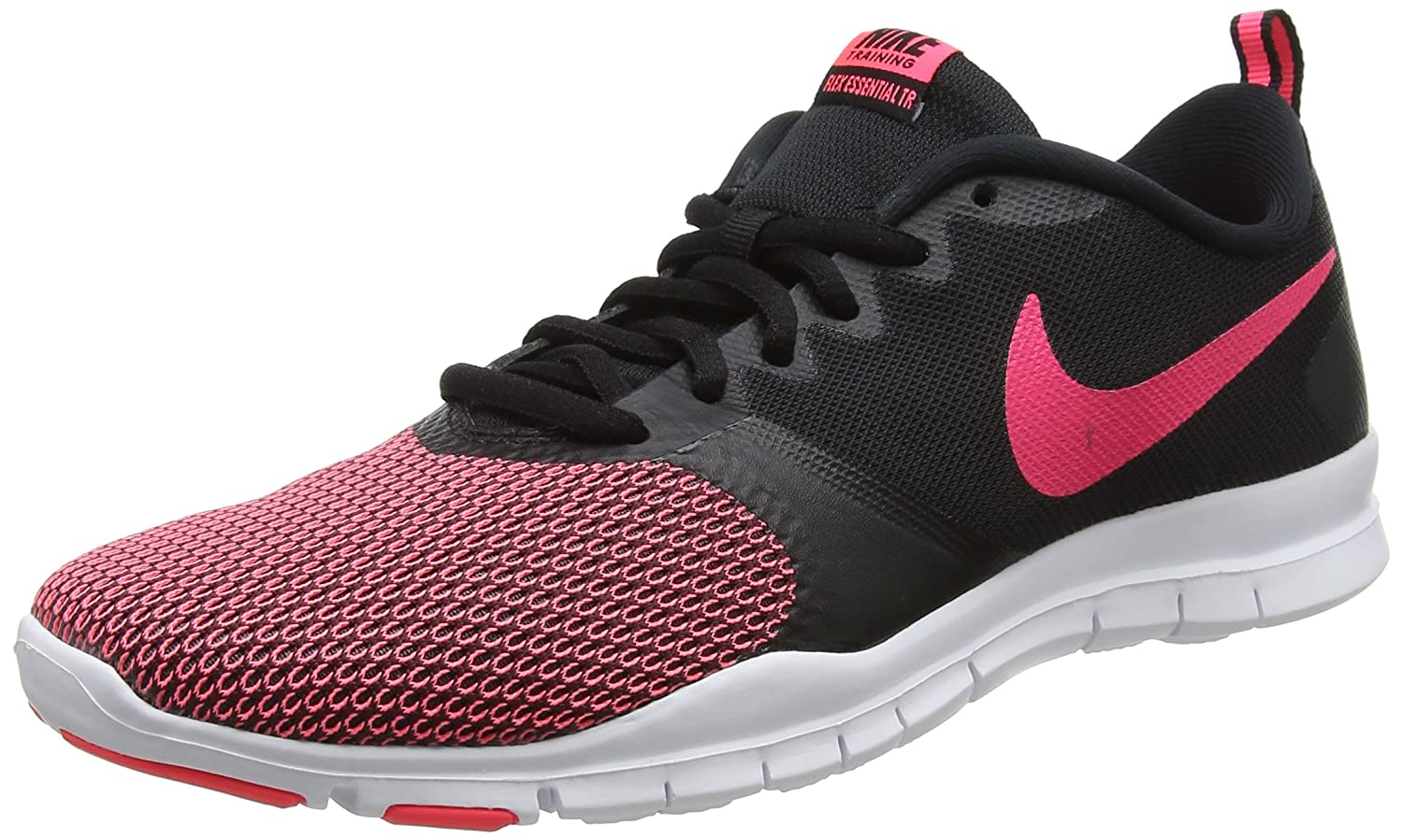 NIKE Women's Flex Essential Tr Training Shoe B0711YRKDB 6|Black/Racer Pink-anthracite