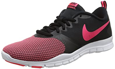 temperament shoes classic fit sports shoes Nike Women's Flex Essential Training Shoe (8, Black/Racer Pink-Anthracite)