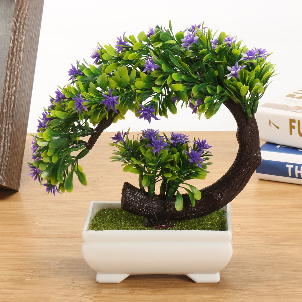 CAVEEN Artificial Topiary Plants in Pot Fake Green Bonsai Tree Decoration for Home Office Desktop Unique Gift #3