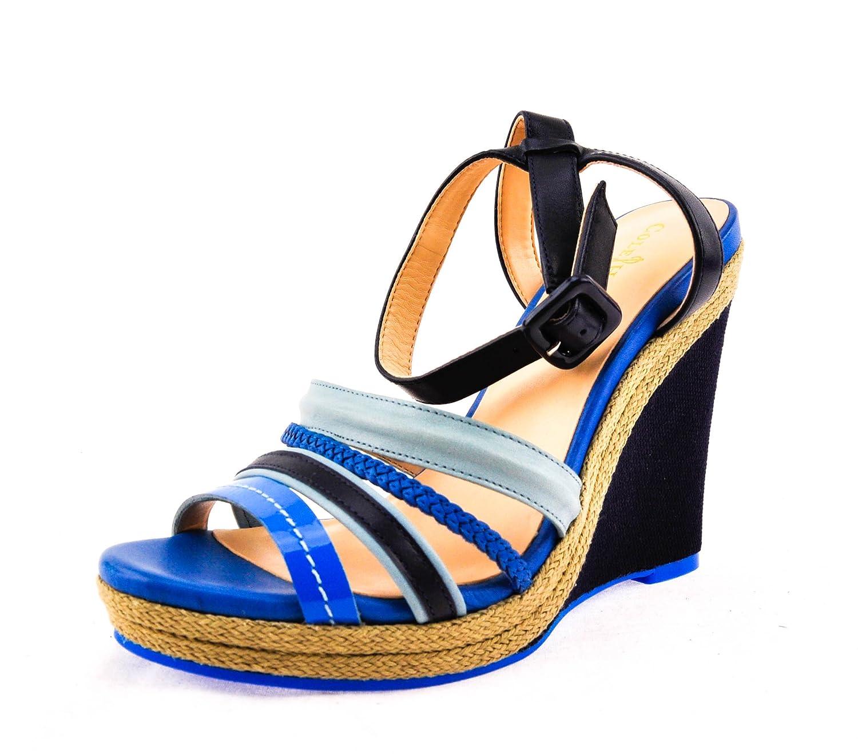 Cole Haan Woman's Nassau Wedge Sandal Blue/Reservoir (9.5) B0090SHKSS 11 B(M) US