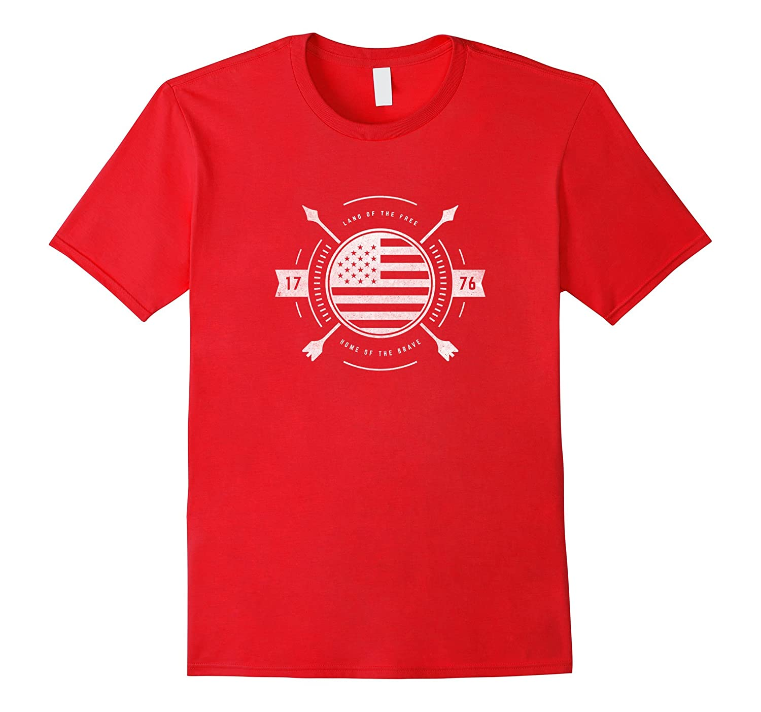 Patriotic Land of the Free Home of the Brave 1776 T-Shirt-Vaci
