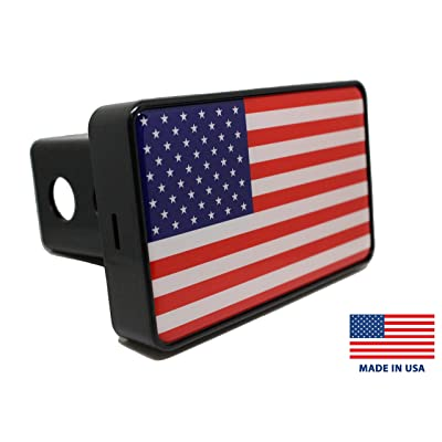 Bright Hitch - American Flag Hitch Cover: Automotive
