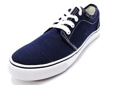0bd4e16a48 Dek Hector Unisex Canvas Lace-up Deck Shoes Navy  Amazon.co.uk ...
