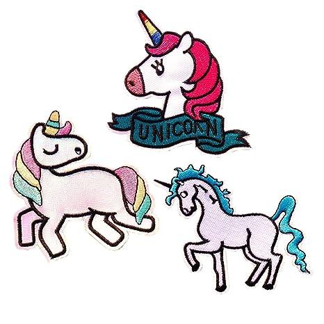 mochilas Parches para planchar vaqueros 9 parches bordados de unicornio para ropa chaquetas
