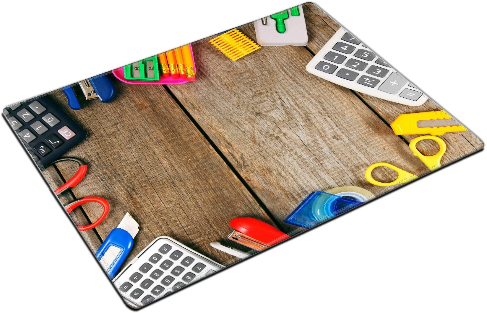 MSD Place Mat Non-Slip Natural Rubber Desk Pads Design: 30873280 Back to School School Tools Around