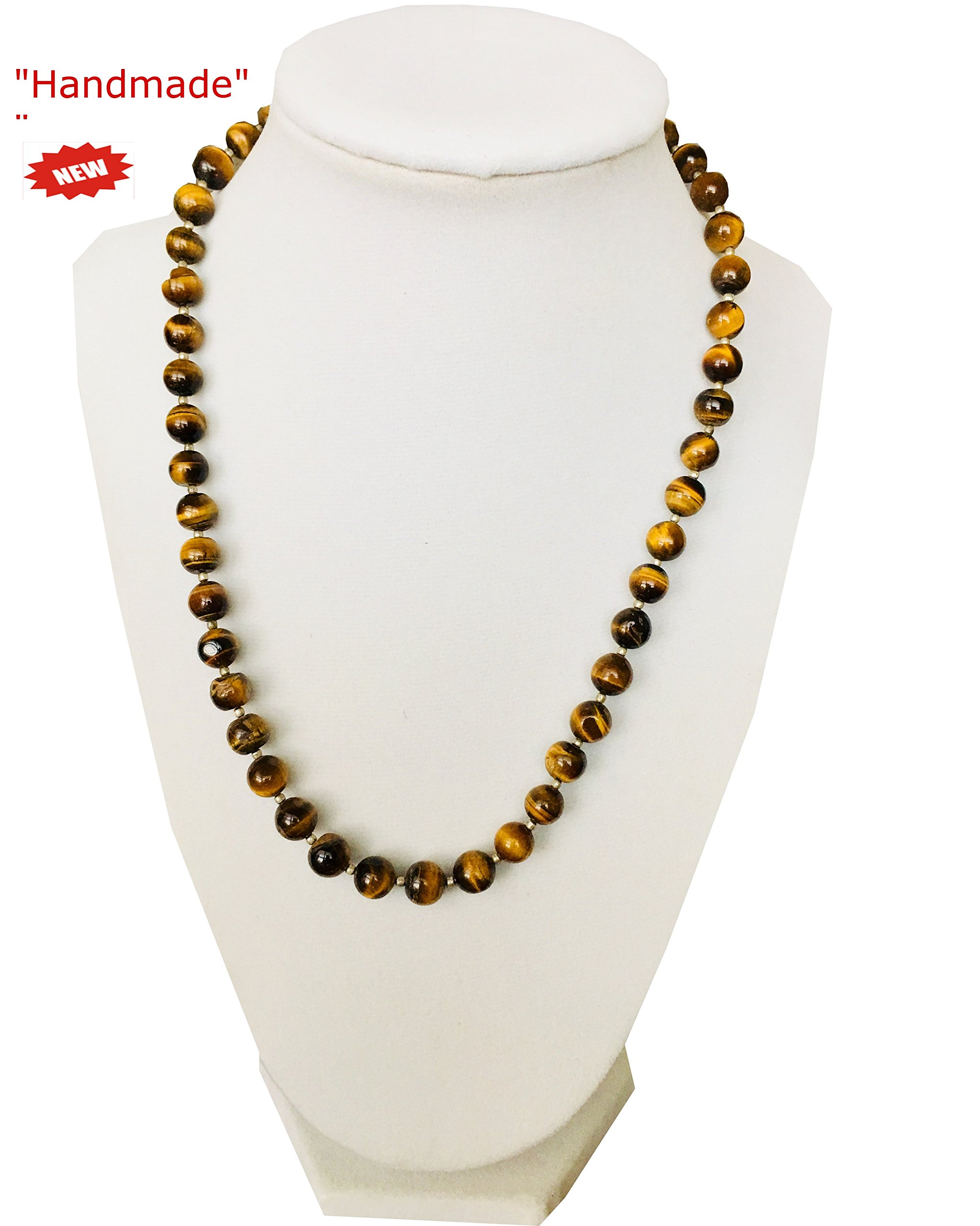 Himalayan Handmade Elegant Necklace Round Brown Color Beads Comes With Gift Box