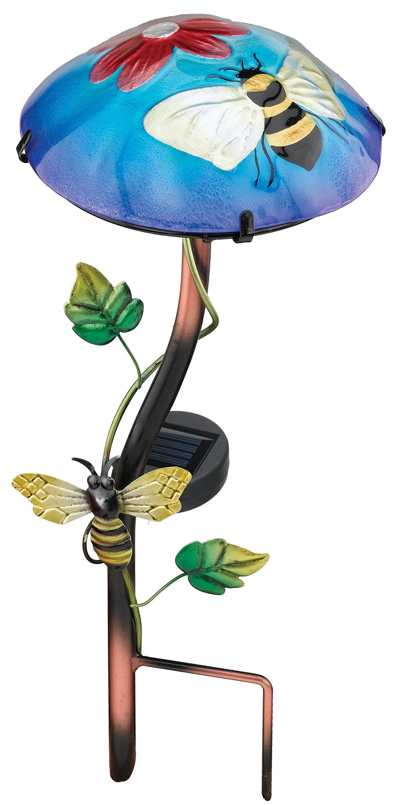 Regal Art &Gift Solar Mushroom Stake, Bee
